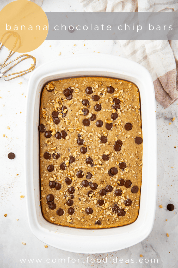 Pan of Banana Chocolate Chip Bars
