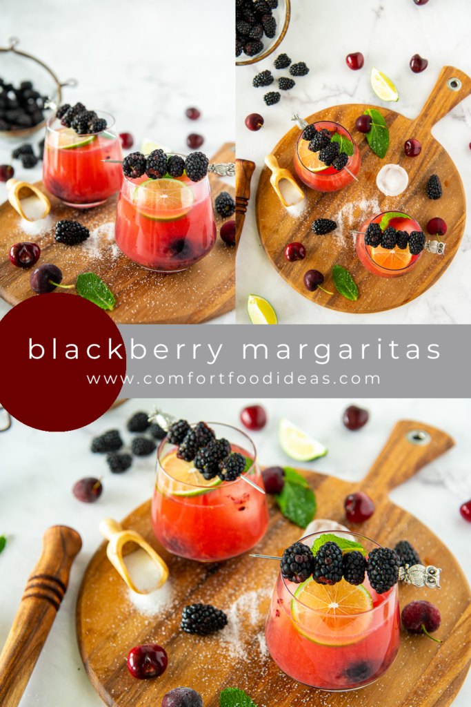 Pinterest Pin for Blackberry Margaritas