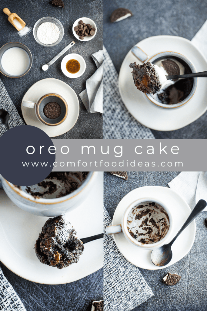 Pinterest Pin for Oreo Mug Cake