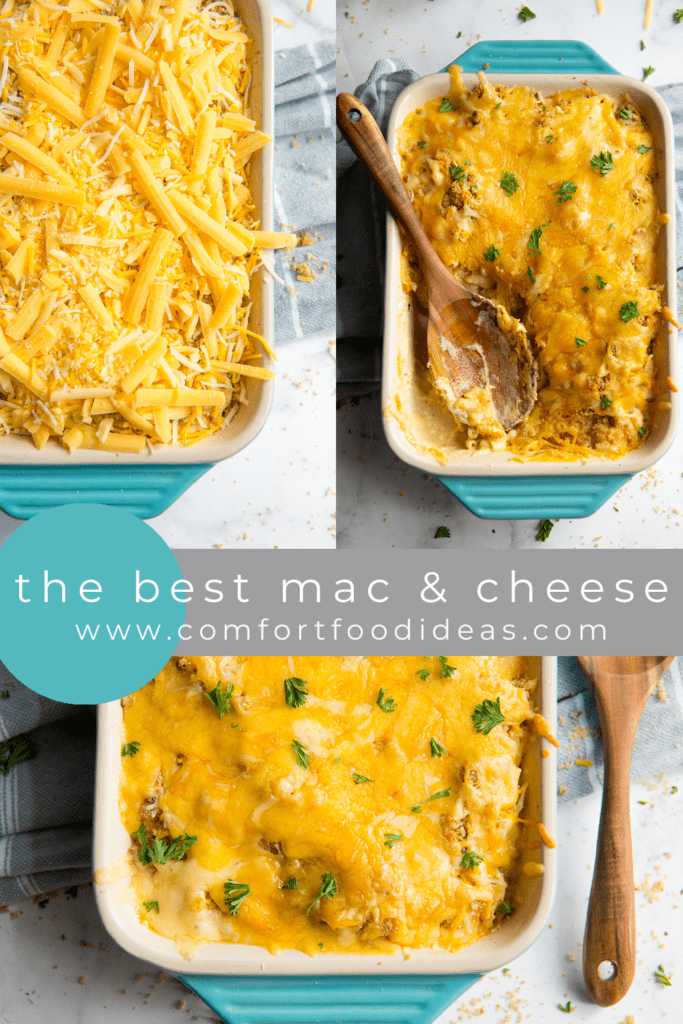 Pinterest Pin for The Best Mac and Cheese