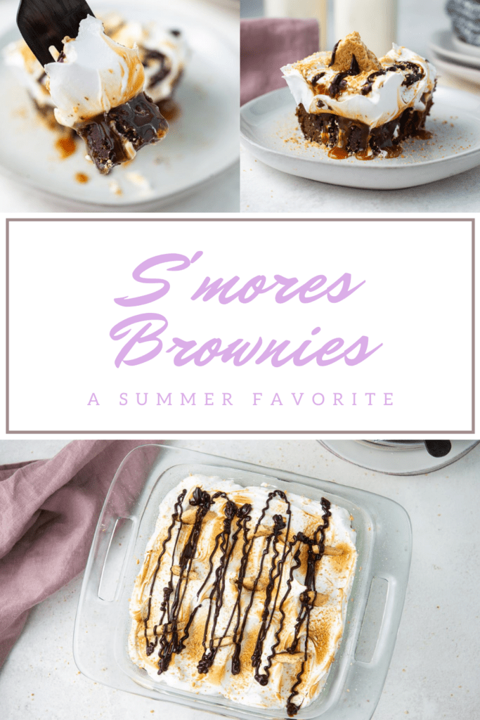 Pinterest Pins for S'mores Brownies