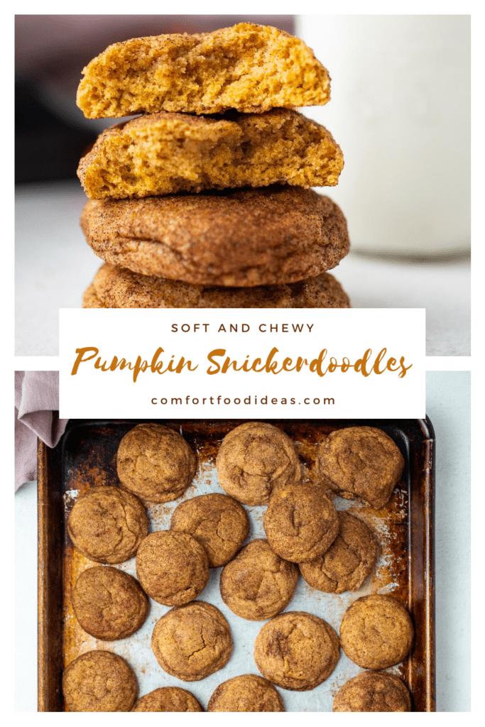 Pinterest pin for Pumpkin Snickerdoodles