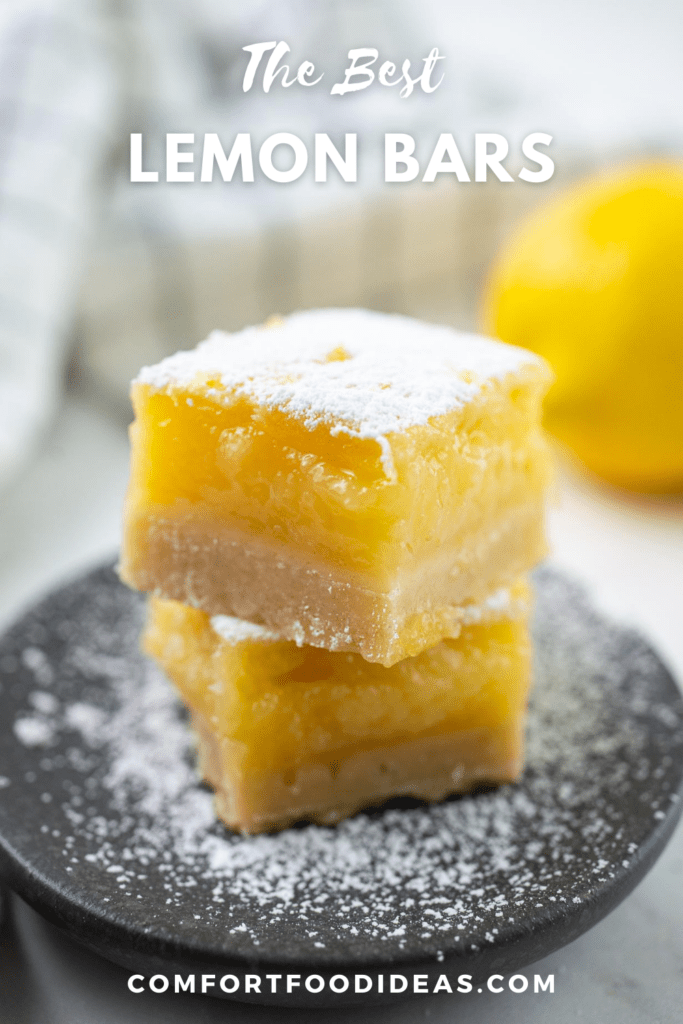 Pinterest Pin Graphic for The Best Lemon Bars