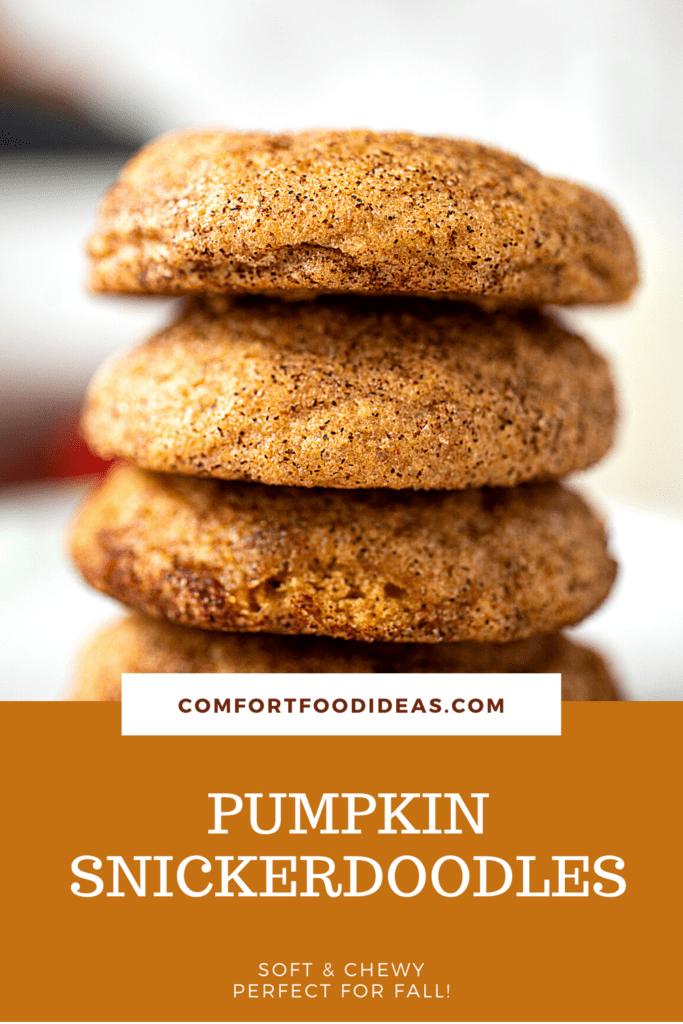 Pinterest pin for showing stack of cookies
