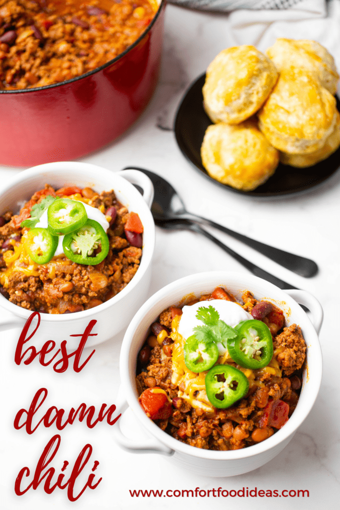 Pinterest pin for The Best Chili