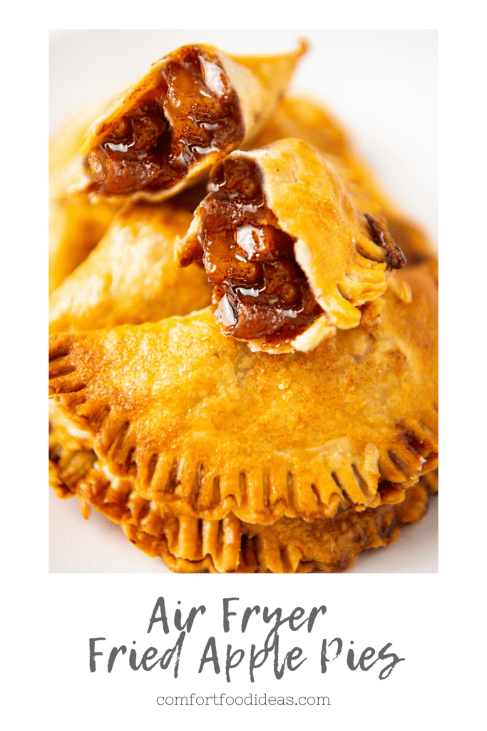 Pinterest Pin for Air Fryer Fried Apple Pies