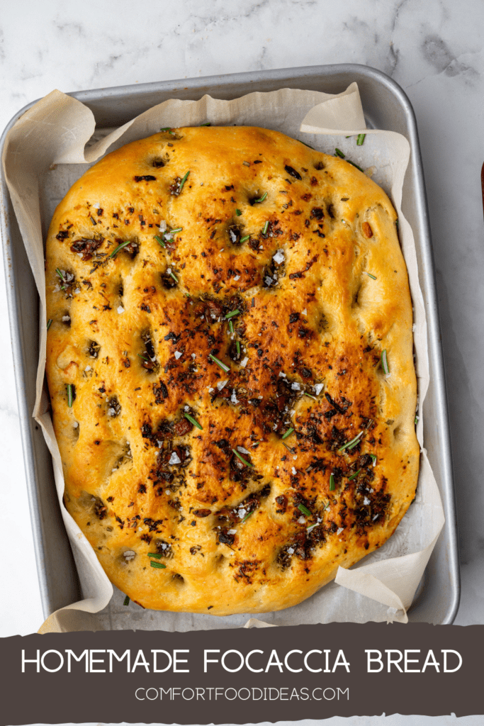 Pinterest Pin for Focaccia