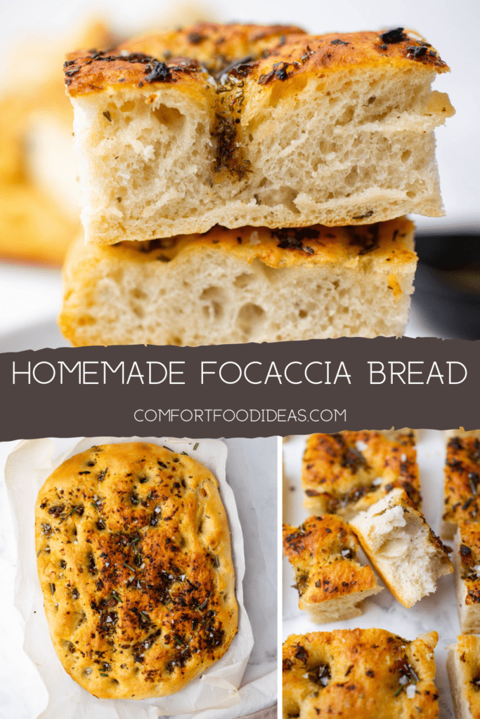 Pinterest Pin for Focaccia Bread