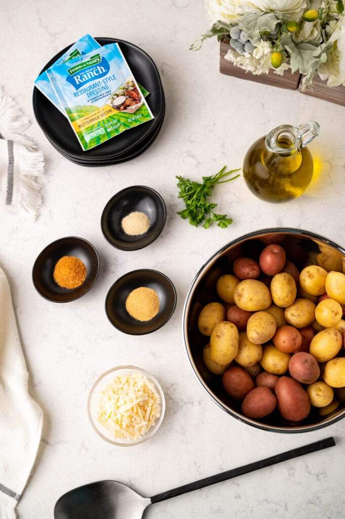 Ingredients for making Ranch Potatoes
