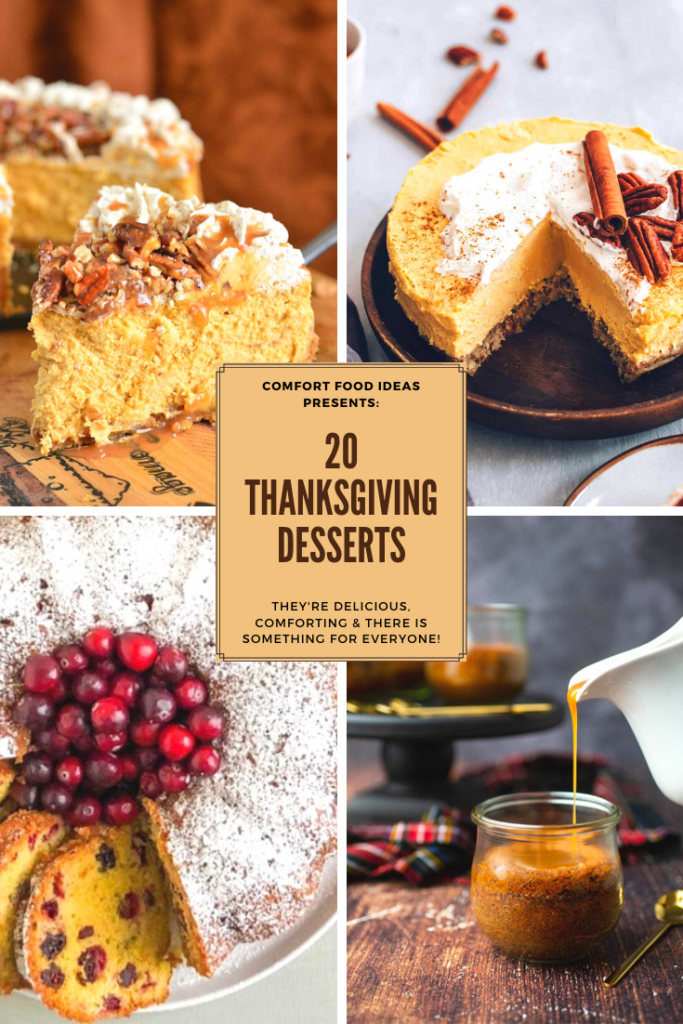 Pinterest Pin for 20 Delicious Thanksgiving Desserts