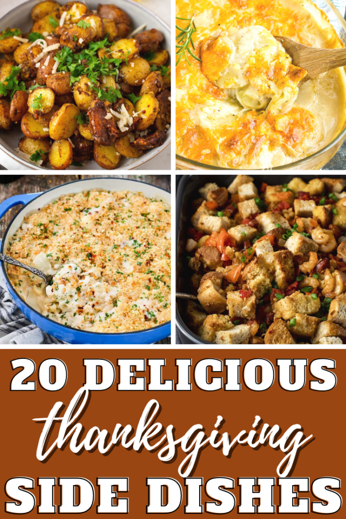 Pinterest Pin of 20 Thanksgiving Side Dishes